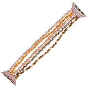 "Interchangeable multi-strand beaded stretch smart watch band/bracelet featuring faceted and block bead details. WATCH NOT INCLUDED. Approximately 4.5"" in diameter. Fits up to a 7"" wrist.  - 38mm"