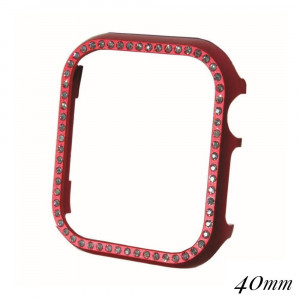 Ultra lightweight aluminum alloy rhinestone studded smart watch face bumper case protector.   - Fits 40mm watch face