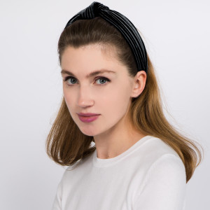 Knotted velvet headband.  - One size fits most - 100% Polyester