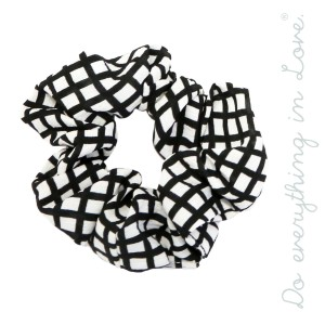 Do everything in Love brand grid print scrunchie.  - One size - 100% Polyester