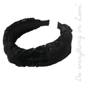 Do everything in Love brand floral burnout velvet knotted headband.  - One size fits most - 100% Polyester
