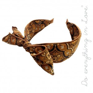 Do everything in Love brand bandana print knotted bow headband.  - One size  - 100% Polyester