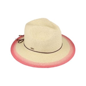 C.C brand ST-714 ombre panama hat. 80% paper straw and 20% polyester. UPF 50+