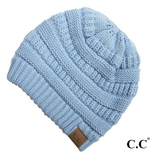 "C.C Hat-20A  Solid ribbed beanie ""The Original"" beanie  - 100% Acrylic - One size fits most  - Matches C.C YJ-847, HW-21, MB-20A, and G-20 style prefixes."