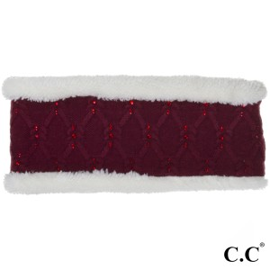 C.C HW-302 Headwrap with rhinestones accents  - 100% Acrylic - One size fits most