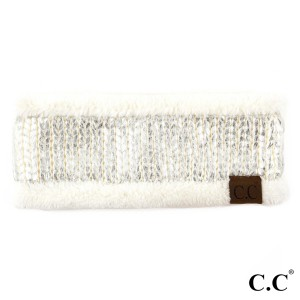 HW-701: Metallic foil C.C headband with fuzzy lining. 100% acrylic.