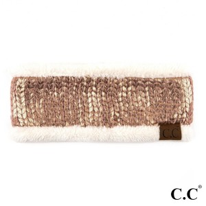 C.C HW-701 Metallic foil headband with fuzzy lining  - 100% Acrylic - One size fits most