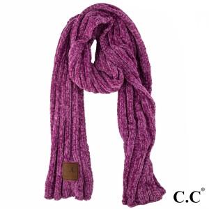 SF-30: Chenille ribbed CC scarf. 100% chenille.
