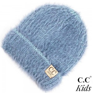 """C.C KIDS-2039 Chenille beanie hat  - 70% Polyester, 30% Nylon - Band circumference is approximately:  11"""" unstretched  18"""" stretched - Approximately 7"""" long from crown to band - Fit varies based on child's head height and shape"""