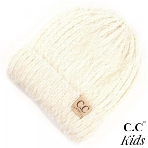 "KID-2039: Soft C.C Beanie . 100% acrylic. Measures 7"" in diameter and 8"" in length. Approximate fit: 4 to 7 years of age."