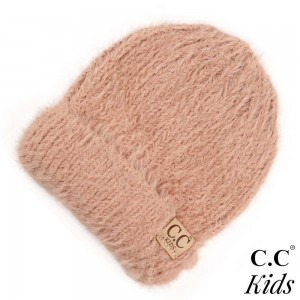"C.C KIDS-2039 Chenille beanie hat  - 70% Polyester, 30% Nylon - Band circumference is approximately:  11"" unstretched  18"" stretched - Approximately 7"" long from crown to band - Fit varies based on child's head height and shape"