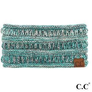 C.C HW-826 Four tone ribbed knit headband   - 100% Acrylic  - One size fits most