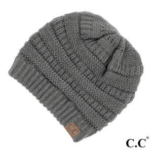 "C.C Hat-20A  Solid ribbed beanie ""The Original"" beanie  - 100% Acrylic - One size fits most  - Matches: MB-20A, SF-800, and G-20"