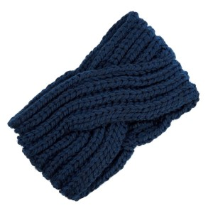 Cable knit head wrap with a twist detail in the front. 100% acrylic.