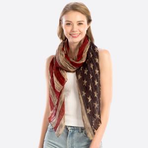 USA flag oblong. 100% polyester. 25.5x70.8 in length.