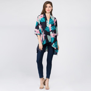 Tropical kimono. 100% Polyester. One size fits most 0-14.