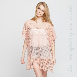 Mesh cover-up. 100% polyester. One size fits most 0-14.