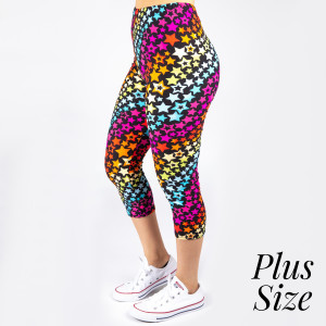 """New Mix printed peach skin leggings are seamless, chic, and a must-have for every wardrobe. These lightweight, full-length leggings have a 1"""" waistband. They are versatile, perfect for layering, and available in many unique prints. 92% Polyester 8% Spandex. One size fits most, fits US women's Fits most 16-20."""