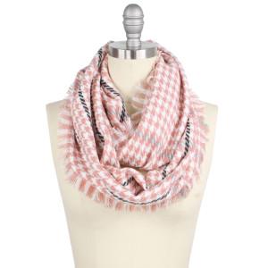 "Mini houndstooth infinity scarf.  - Approximately 17.5"" W x 33.5"" L - 100% Acrylic"