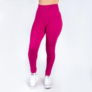 Fuschia leggings. This style is one size fits all, full length, and in a summer weight. Offered in everyday essential colors to coordinate with long tops or skirts. Made of a 95% polyester and 5% Spandex mix.