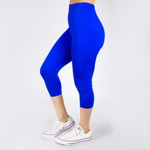 New Kathy / New Mix royal blue, summer-weight capris are seamless, chic, and a must-have for every wardrobe. These lightweight, interchangeable styles are versatile, perfect for layering, and available in many shades. Smooth fabric, 92% Nylon 8% Spandex. One size fits most, fits US women's 0-14.