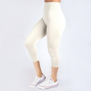 New Kathy / New Mix white, summer-weight capris are seamless, chic, and a must-have for every wardrobe. These lightweight, interchangeable styles are versatile, perfect for layering, and available in many shades. Smooth fabric, 92% Nylon 8% Spandex. One size fits most, fits US women's 0-14.