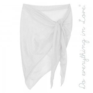 """Do everything in Love brand solid mesh bias cut sarong scarf/wrap.  - Approximately 74"""" L x 30"""" T - 100% Polyester"""