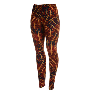 Peach skin vintage Americana themed leggings. Polyester and spandex blend. One size fits most.