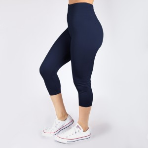 New Kathy / New Mix navy, summer-weight capris are seamless, chic, and a must-have for every wardrobe. These lightweight, interchangeable styles are versatile, perfect for layering, and available in many shades. Smooth fabric, 92% Nylon 8% Spandex. One size fits most, fits US women's 0-14.