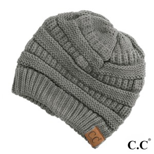 """HAT-20A-The original C.C beanie style. 100% acrylic. Measures 9.5"""" in diameter and 8"""" in length.   Matches: MB-20A, SF-800, and G-20"""