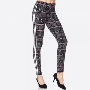 With a sculpting fit, these casual-chic leggings get a retro touch with stripes down the side.Paneled elastic waistband. 92% Polyester, 8% Spandex. One Size.