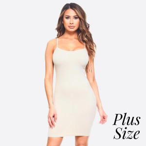 This is your seamless solid color casual go-to comfortable dress/top with Spaghetti Straps. This is a great dress/top for layering or simply just worn plain with accessories. 