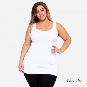 The possibilities are endless with the Women's Seamless Tank Top. This basic beauty offers style and comfort in any setting. Rock it bare with a pair of denim jeans for a casual look, or mix and match it with patterned cardigans, skater skirts, or wide leg pants for a sassy look.   -Round neckline  -Body-con  -Sleeveless  -Fitted  -Solid color  -Super soft  -Stretchy   Fits most women sizes 16-22.   Composition: 92% Nylon, 8% Spandex.
