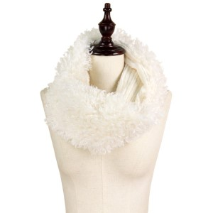 "Faux fur tube scarf.   - Approximately 7"" W x 15"" L - 100% Polyester"