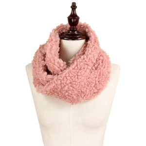 "Fluffy faux fur tube scarf.   - Approximately 11"" x 15""  - 100% Polyester"