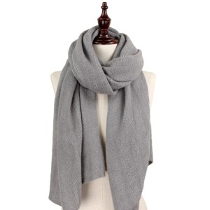Solid color soft knit scarf. 100% acrylic.