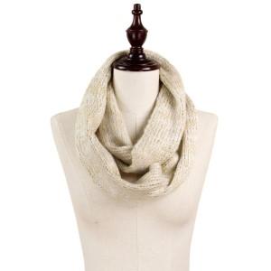 Lurex multi color knit infinity scarf. 100% acrylic.