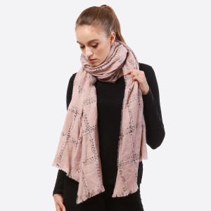 Plaid scarf. 100% acrylic.