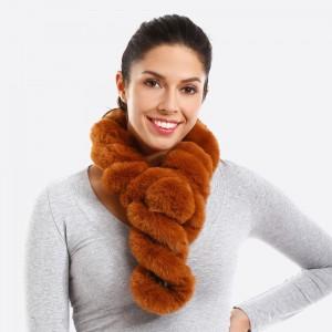 Twisted faux fur scarf.   - 100% Acrylic