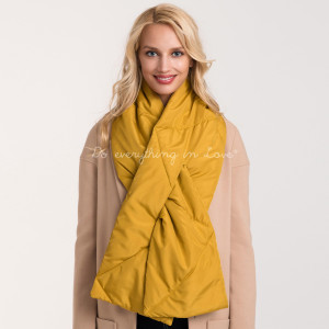 Quilted down scarf.   - 100% Polyester
