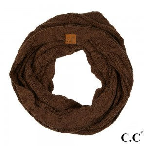 "C.C SF-800 Cable knit infinity scarf  - 100% Acrylic - W:13"" X L:60"""