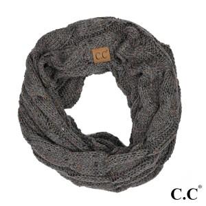 "C.C SF-33 Confetti knit cable infinity scarf  - 100% Acrylic - W:13"" X L:57"""