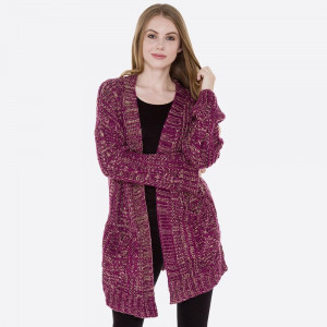 Cable knit cardigan with front pocket details.  - One size fits most 0-14 - 100% Acrylic