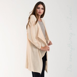 Waterfall lapel cozy knitted cardigan.   - One size fits most 0-14 - 95% Acrylic, 5% Spandex
