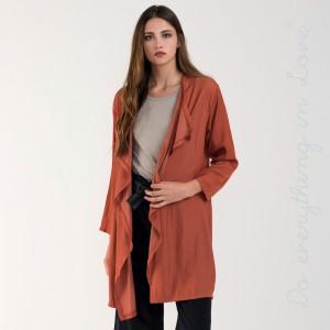 Waterfall lapel silky cardigan/kimono.  - One size fits most 0-14 - 100% Cotton