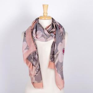 Lightweight floral scarf. 100% acrylic.