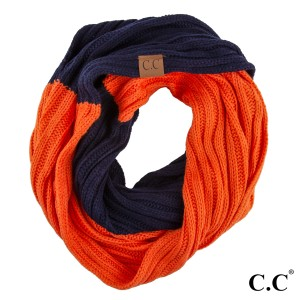 "C.C SF-56 Two tone ribbed scarf  - 100% Acrylic - One size fits most - W:12.5"" X L:59"""