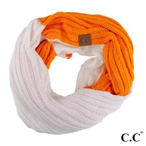 "SF-56: Multi color C.C infinity scarf. 100% acrylic.   W: 12"" L: 59"""