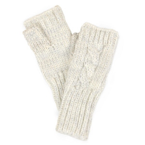 Cable knit fingerless gloves.  - One size fits most - 100% Acrylic