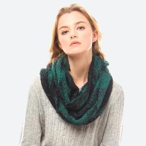 Plaid infinity scarf. 100% acrylic.